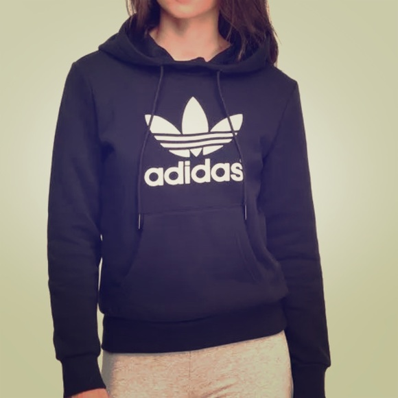 the best attitude a2f7a f08bb Adidas pullover logo hoodie
